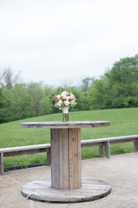 tables at the avon wedding barn in avon indiana